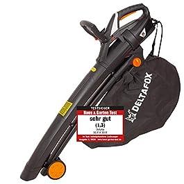 Souffleur-aspirateur de feuilles électrique DELTAFOX – 3000 W – incl. sac de ramassage de 40 l – sangle de transport…