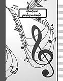 Quaderno Pentagrammato: Quaderno di musica, 100 pagine, dimensioni 8,5x11 inc (21.59/x 27.94 CM)