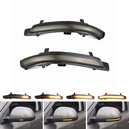 Links Rechts Spiegelblinker Dynamische LED Blinkerleuchten Blinker für Octavia 1Z3 1Z5 Superb 3T4 3T5, mit E-Prüfzeichen