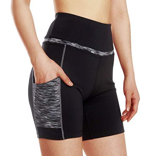 HaiDean Yogashorts voor dames, met jongens, chic, sporttassen, leggings, sportbroek, fitnessbroek, yoga, boxershort, leggings