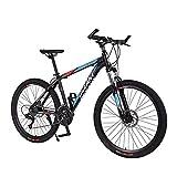 FBDGNG Bicicleta de montaña adulta ruedas de 26 pulgadas para hombre y mujer 21 velocidades con frenos de disco Daul