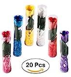 Lote de 15 Jabones Flor Rosa De Pétalos De Jabon En Caja De Regalo - Detalles para Bodas Baratos, Bautizos y Comuniones invitadas