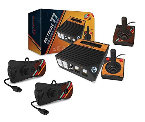 Hyperkin Retron 77 Atari 2600 HD Gaming Console with 2x Atari 2600 Premium Controllers + 2x Gamepad w/ Paddle Dial Controllers Bundle