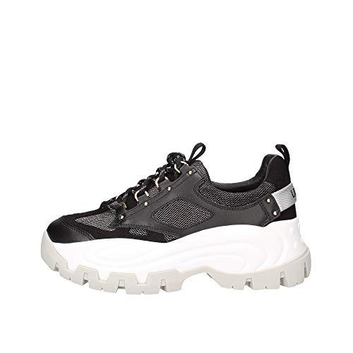 Scarpe Donna Liu-Jo Sneaker Zeppa Wave 01 Pelle/Mesh Colore Nero DS20LJ07