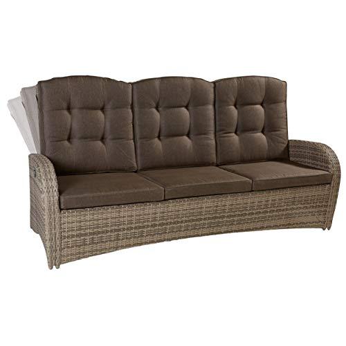 LC Garden 3er Sofa Dreisitzer Turin Living Natur Gartenmöbel Couch