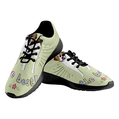 INTERESTPRINT My Dog is The Best Women's Trail Running Shoes Lightweight Comfortable Walking Shoes US9.5