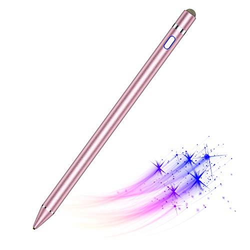 Penna Digitale Attivo per Touch Screen, Stylus Pen per iPhone 7 8 X 11 12, iPad PRO Mini Air, Telefoni e Tablet, per Disegnare e Scrivere a Mano su Smartphone e Tablet Touch Screen (iOS Android)