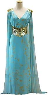 Juego de Tronos Daenerys Targaryen Disfraz Qarth Dany Cosplay Azul M