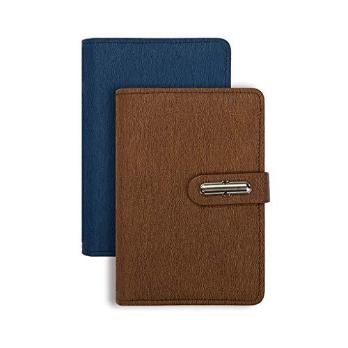 JIALI Cuaderno de notas de estudio simple grueso y exquisito cuaderno de oficina (2 piezas) clasificar (color: A, tamaño: 11 x 14,7 cm) (color: I, tamaño: 11 x 14,7 cm)