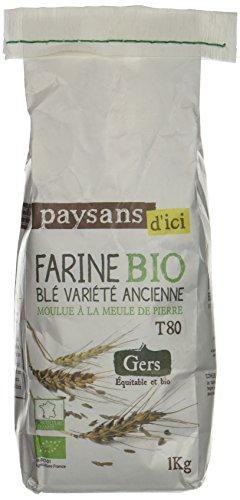 Ethiquable Farine de Touselle Gers Bio 1 kg Paysans d'Ici