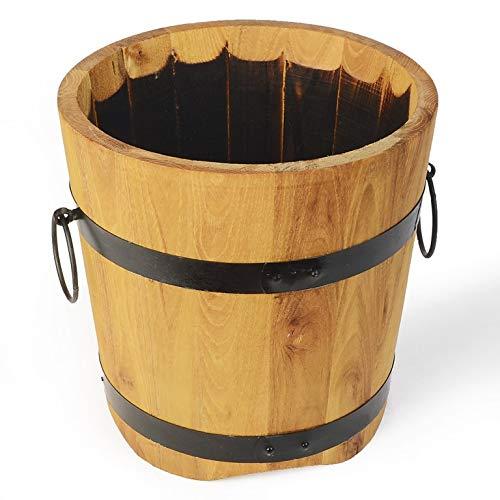 Weidenprofi Holzfass, Pflanzkübel aus geölten Robinienholz, Größe Ø 40 cm x H 40 cm, ca. 30 Liter