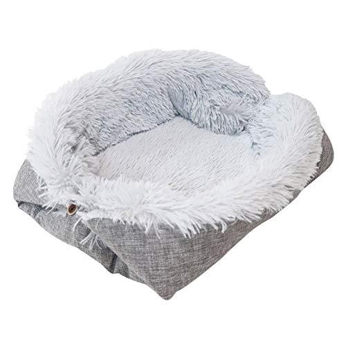 Deluxe Fluffy Pet Bed, Winter Warme Kissen Plüsch Katzenbett Hündchen Warme Komfortable Auflage Dicker Weicher Schlafsack Haustierbett Matte Weiches Welpensofa