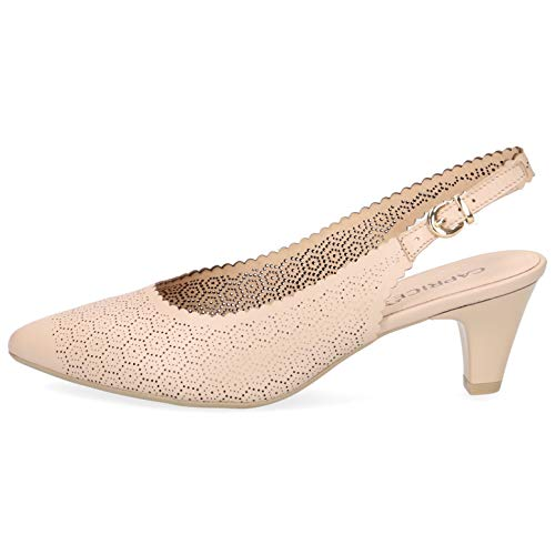 CAPRICE 9-29601-22 Schuhe Damen Sling Pumps Weite G, Schuhgröße:38 EU, Farbe:Beige