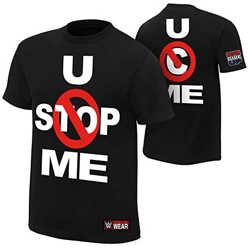 WWE AUTHENTIC WEAR John Cena U Can't Stop Me T-Shirt, Größe L, Schwarz