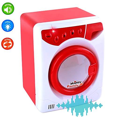 Nuheby Waschmaschine Spielzeug mit Licht und Ton Simulation Waschmaschine Haushaltsgeräte Rollenspiel Lerngeschenke für 3 4 5 6 Kinder