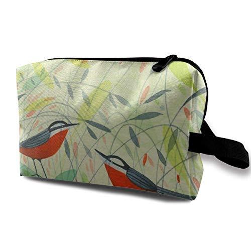 Kleiber Damenhaut Pflege Kosmetiktasche Tragbare Kosmetiktasche wasserdichte Reisetasche, Handtasche Reißverschlusstasche