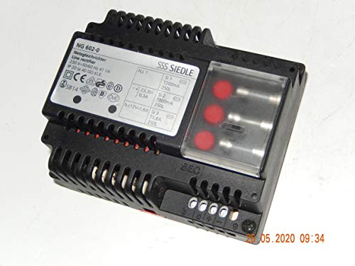 Siedle NG 602-0 Netzgleichrichter für Sprechanlage Netzgerät Netztrafo geb.