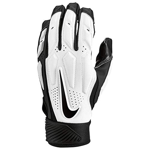 Nike D-Tack 6 Lineman - Guantes para Hombre, Large, Blanco/Negro