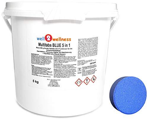 well2wellness Chlor Multitabs Blue 5 in 1 / Blaue Multitabs 5 in 1 200g - 5,0 kg