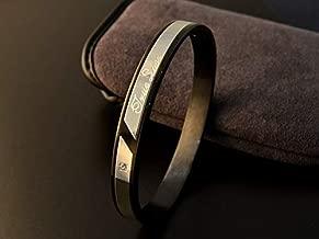 Sparkling diamond titanium lovers bracelet for Men