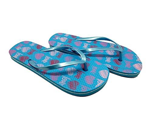 Ducomi Chanclas coloridas de goma EVA para mujer, zapatillas de playa, zapatillas de verano, zapatillas de baño, ligeras y suaves, zapatos de verano para la playa Multicolor Size: 39/40 EU