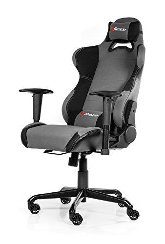Arozzi - Torretta sedia da Gaming, Nero Grigio, 50 x 55 x 130