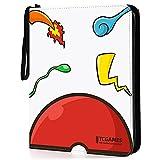 TCGAMES Card Binder for Pokemon Cards Binder 9-Pocket,...