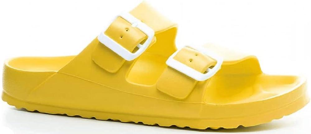 Corkys Women's Waterslide Slip-On Sandal Yellow