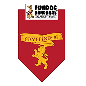 HP GryffinDog Bandana (One Size Fits Most for Medium to Large Dogs)