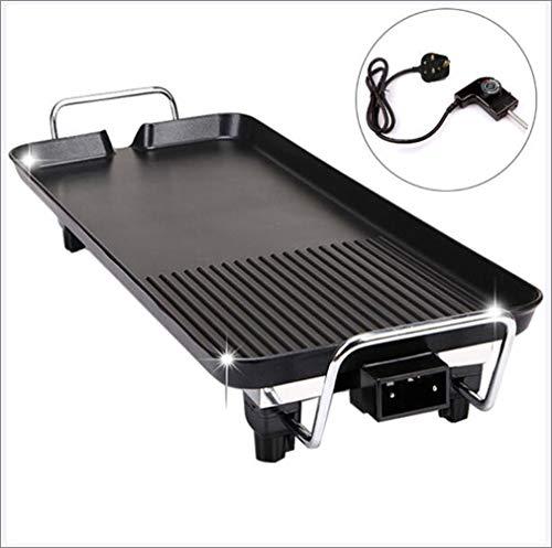 Elektrische Teppanyaki Tafelgrill, BBQ Barbecue Bakplaat, Non-stick Hot Plate Barbecue Lade met Instelbare Temperatuur voor Binnen Buiten,68 * 28cm