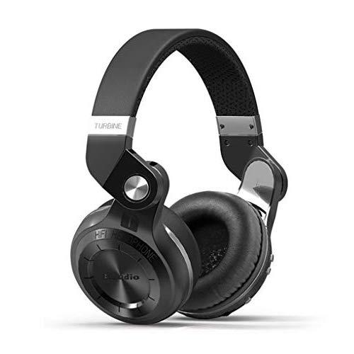 Bluedio T2S Cuffie stereo wireless Bluetooth 5.0, cablato/rotante/nuvola/controllo vocale, driver da 57 mm, cuffie Bluetooth over-ear (nero)