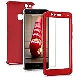 kwmobile Funda para Huawei P10 Lite - Carcasa Protectora Completa con Cristal Templado - Cover con Protector de Pantalla Duro