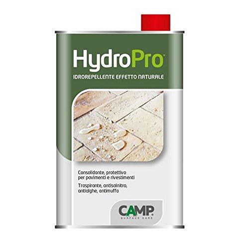 Camp HYDRO PRO, Idrorepellente Protettivo Anti-vegetativo, a effetto naturale, per pietra, cemento, cotto e materiali assorbenti