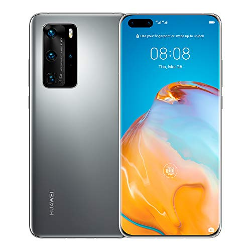 Huawei P40 Pro 5G Dual Sim EU/UK Version ELS-NX9 [NO Google Services] 8GB+256GB International Version - Frosted Silver