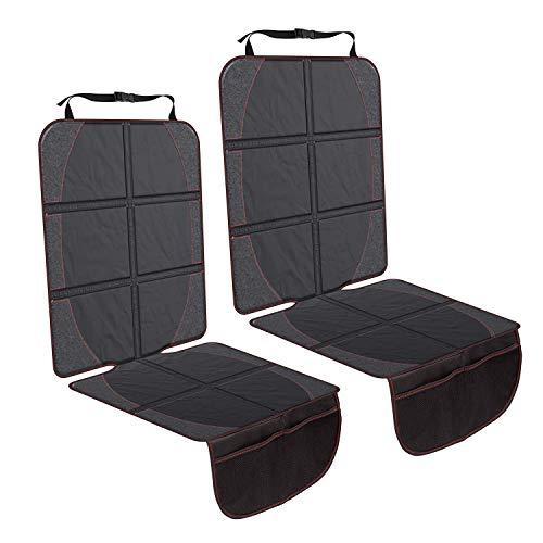 Trounistro Autositzauflage Kindersitzunterlage, Autositzschutz Auto-Kindersitzunterlage Autositzschoner Sitzschoner Auto Kindersitz Autositzschoner Universalgröße - 2 Pack