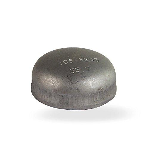 Stabilo-Sanitaer Stahl Klöpperboden 2 1/2 Zoll 76,1 mm DN65 Blindkappe schwarz Schweissfitting
