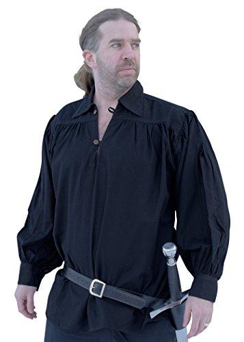 Battle-Merchant Ritterhemd, schwarz - Mittelalter-Hemd LARP Größe XL