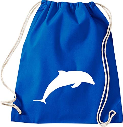 Shirtinstyle Turnbeutel Tiere Delphin Farbe royal