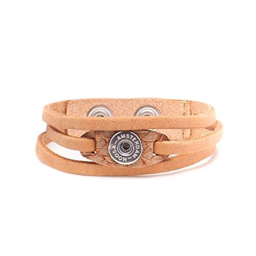 Noosa Amsterdam Women's Leather Bracelet Cognac WPCS–9023–110