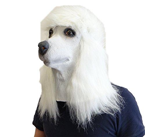 Français Caniche Masque Latex Animal Chien Masque Déguisement