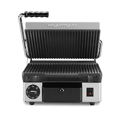 Milantoast 491056 Contactgrill, 310 x 380 x 170 mm, medium, gegroefd