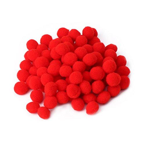 caralin 100Pieces Multi Purpose Pom Poms Round Balls Craft Making Tools DIY Decorations New