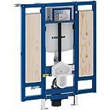- Bâti-support applique - Bâti-support Duofix WC suspendu, 112 cm, adapté PMR avec WC hauteur réglable pour barres de relevage - Geberit