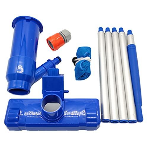 Nuaueaw - Aspirapolvere portatile per piscina, con 5 poli, portatile, per casa, piscina, stagno, mini getto di aspirazione, aspirazione per vasca idromassaggio