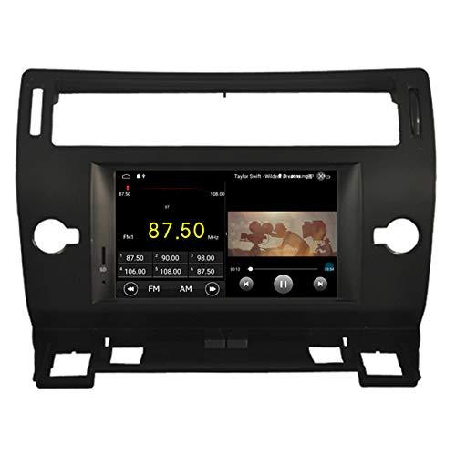 Autosion Android 10 Lecteur DVD de voiture GPS stéréo Radio Navi Multimédia Wifi pour Citroen C-Quatre C4 C-Triomph 2004-2010 Commande au volant