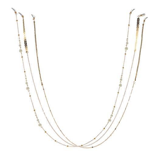 PRETYZOOM 3 Piezas de Cordón Ajustable para La Cara Cordón de Perlas para Gafas Correa para El Cuello Cordón de Cadena para Gafas de Sol Bandana para La Boca Alrededor del Cuello