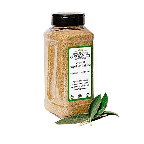 HQOExpress | Organic Sage Leaf Rub | 9 oz. Chef Jar