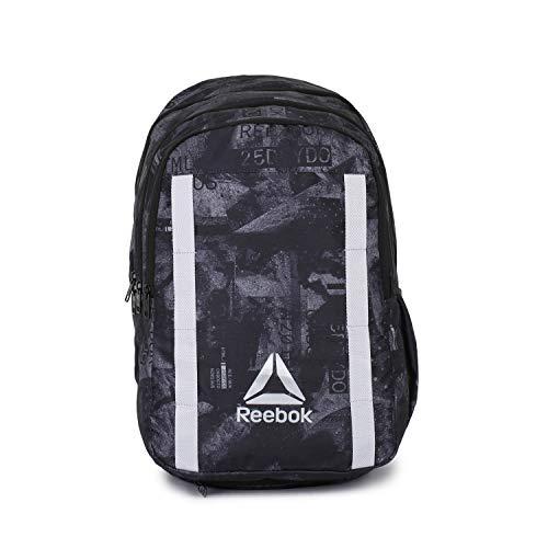 Reebok Unisex Black Graphic X Laptop Backpack