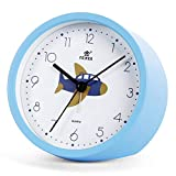 Laigoo Silent Kids Alarm Clock丨Non-Ticking Analog Alarm Clock for Bedroom/Travel Battery Operated