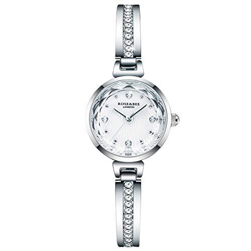 RORIOS Mujer Relojes Analógico Cuarzo Relojes con Correa en Acero Inoxidable Moda Vestir Relojes de Pulsera Casual Reloj para Mujer